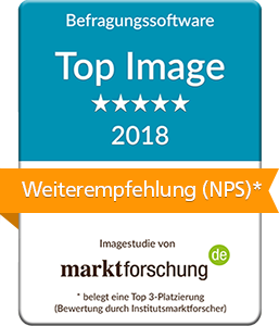CIS Befragungssoftware Top Image 2018 laut marktforschung.de